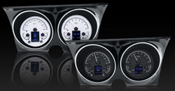 1967 - 1968 Dash Instrument Cluster Gauges Set, HDX : Speedometer, Tachometer, Oil Pressure, Water Temp, Voltmeter and Fuel
