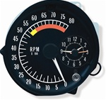 1973 - 1976 Firebird Dash Tachometer and Quartz Clock Assembly