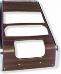 1967 - 1968 Firebird Center Dash Panel, Walnut Grain Deluxe