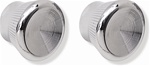 1967-1969 Radio Chrome Knobs - Pair