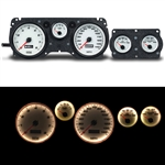 1970 - 1981 Firebird WHITE Performance Series Dash Instrument Cluster Gauge System, Speedometer, Tachometer, Oil Pressure, Water Temp, Voltmeter, Fuel