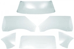 1968 - 1969 Firebird CLEAR COUPE Hardtop Glass Kit, 6 Pieces