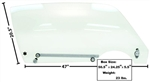 1970 - 1981 Firebird Door Window Glass Kit, Clear, RH Side