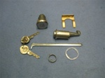 1967 - 1968 Firebird Glove Box and Trunk Lock Set, OE Style GM Pear Headed Keys