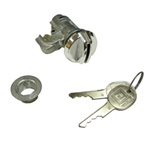 1972 - 1981 Firebird Glove Box Lock Set with GM Rounded Keys