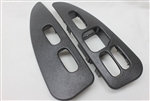 1993 - 1999 Door Panel Switch Trim Plates, Graphite Gray, Pair