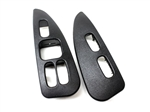 2000 - 2002 Firebird and Trans Am Door Panel Switch Trim Plates, Ebony, Pair