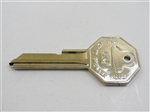 1968 Firebird Key Blank, GM Logo with Octagon Head, OE Style