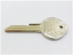 1968 Firebird Key Blank, GM Logo with Pearhead, OE Style