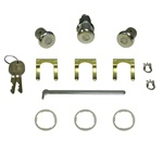 1967 - 1968 Firebird Door and Trunk Locks Set, GM Round Headed Keys