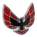 1974 - 1976 Firebird and Trans Am Front Bumper Nose Header Panel Emblem RED, USA Made