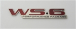 1996 - 2002 Firebird Trans Am Rear Bumper WS6 Emblem, Red