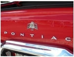 1967 - 1969 Firebird PONTIAC Rear Trunk Deck Lid & Tail Light Panel Emblem Letter Set, USA Made