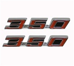 1968 - 1969 Firebird 350 Hood Emblem Set - USA Made