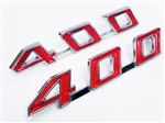 1967 - 1969 Firebird 400 Hood Emblems Set, Budget Friendly
