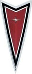 1977 - 1981 Firebird and Trans Am Front End Bumper Cover Nose Panel Arrowhead Crest Emblem, Red