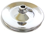 Power Steering Pump Pulley, Single Groove, Chrome