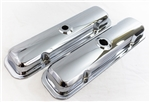 1967 - 1981 Chrome Pontiac Engine Valve Covers Set Without Drippers