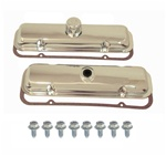 1967-1981 Pontiac Firebird Chrome Engine Valve Covers Kit, Without Drippers