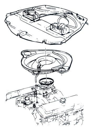 1969 Ram Air Iii Or Iv Air Cleaner White Striped Vacuum Hose Kit Set