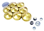 Pontiac OE Style Expansion Freeze Plug Kit - Brass