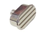 "Valve Cover Breather Cap, Polished Aluminum Oval Finned, 1"" Diameter Tube"