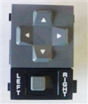1985 - 1992 Firebird Power Remote Door Mirror Switch, Gray and Black with White Lettering
