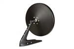 Flat Black Round Billet Aluminum Side View Mirror with Fasteners Leading Edge and Convex Glass