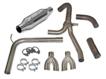 1998 - 2002 Firebird Firehawk Exhaust System, Loud Mouth 1 for LS1 with 2.5 Inch Dual Splitter Tips