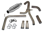 1998 - 2002 Firebird Firehawk Exhaust System, Loud Mouth II for LS1 with 3.5 Inch Slash Tips