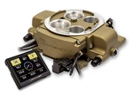 Holley Sniper EFI Quadrajet 4 Barrel Fuel Injection Conversion Self-Tuning Kit with Handheld EFI Monitor, Classic Gold Finish