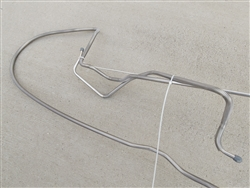 "1975 - 1979 Firebird Fuel Line, Gas Tank to Pump 2pc, 3/8"" Pontiac V8 LH Routing, Stainless Steel"