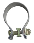 "Pypes Stainless Steel 2.5"" x 1"" Wide Tail Pipe and Tip Exhaust Band Clamp, Each"
