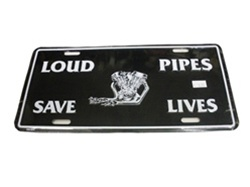 """Loud Pipes Save Lives"" License Plate"
