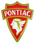 Sign, Metal Tin Pontiac Indian Arrowhead Shield