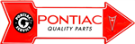 Pontiac Service Quality Parts Arrow Head Metal Tin Sign