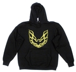 Hooded Sweat Shirt, Gold Hood Bird