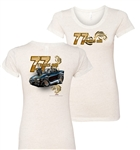 Ladies Pontiac Firebird Trans Am 77 Tooned Up T-Shirt