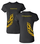 Ladies Pontiac Firebird Trans Am Under Wrap American Muscle T-Shirt