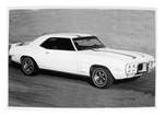 1969 Trans Am Black and White GM Showroom Dealer Promotional Poster Print