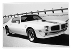 1970 Trans Am Black and White GM Showroom Dealer Promotional Poster Print