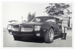 1971 Firebird Black and White GM Showroom Dealer Promotional Poster Print