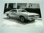 GTO Black and White GM Showroom Dealer Promotional Poster Print