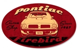 Metal Tin Sign, Pontiac Firebird, Oval