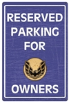 Pontiac Firebird Trans Am Parking Only Sign