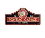 Metal Tin Sign, Pontiac Garage