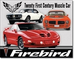 Metal Tin Sign, Pontiac Firebird Tribute Tin Sign
