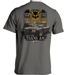 1977 Pontiac Firebird Three Trans Am T-Shirt with Bandit TA on back!