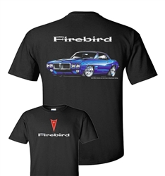 1969 Pontiac Firebird T-Shirt with Arrowhead on Front Chest