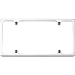 Billet Specialties Slimline License Plate Frame, Polished or Satin Black Finish